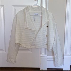 URBAN OUTFITTERS BEIGE LIGHT WEIGHT JACKET